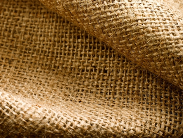 Enlarged view of jute with all its textures and creamcolored shades