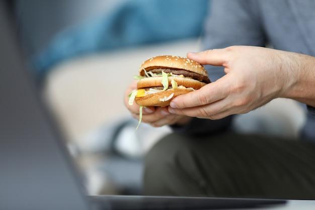 Enormous tasty hamburger