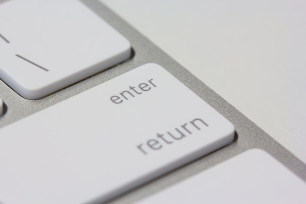Enter key in a keyboard closeup
