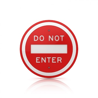 Do not enter road sign Premium Photo