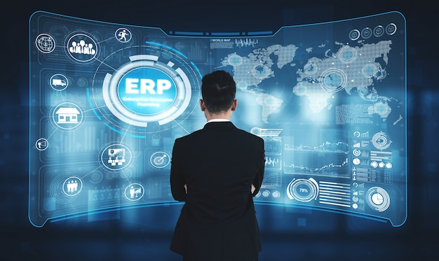ビジネスリソース計画のためのエンタープライズリソース管理erpソフトウェアシステム