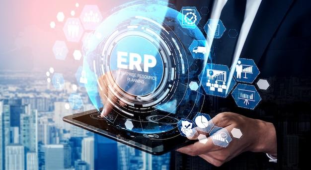비즈니스 자원 계획을위한 엔터프라이즈 자원 관리 erp 소프트웨어 시스템