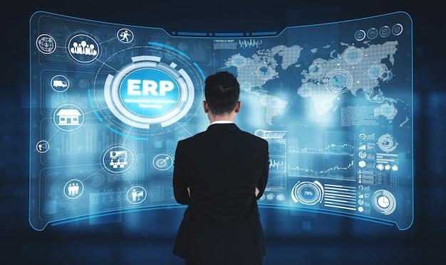 Enterprise resource management erp система программного обеспечения для плана бизнес-ресурсов