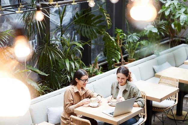 Предприимчивые леди анализируют продажи интернет-магазина