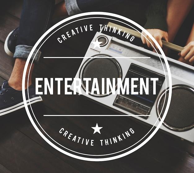 Entertainment vintage vector graphic concept
