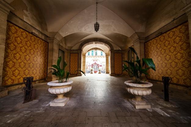 Entrance of the bonanno palace in ortigia