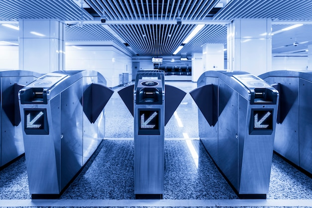 Entrance gate of subway station