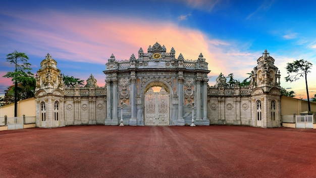 Entrance gate at sunset in istanbul, turkey.
