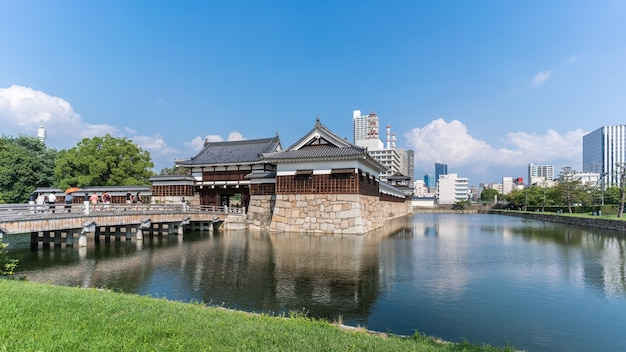 The entrance of hiroshima castle , hiroshima , japan
