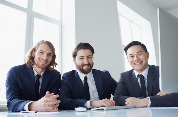 Entrepreneurs working together