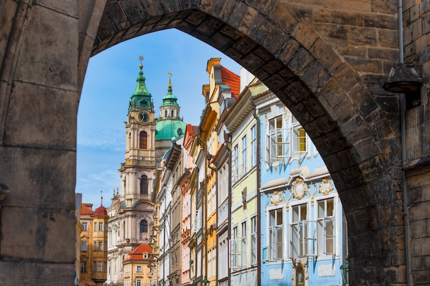 Entry into the district of mala strana in prague
