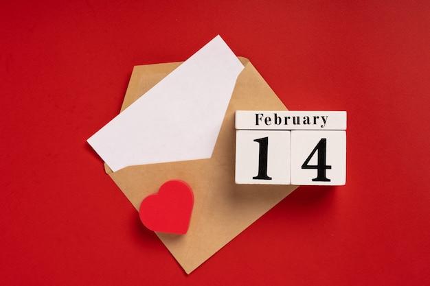 テキスト用のバレンタインデースペースの封筒