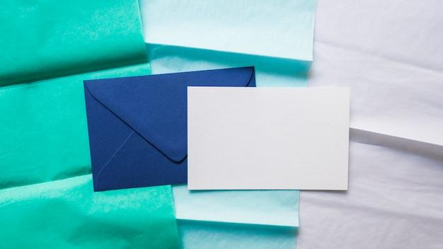 Envelope on gradient paper line