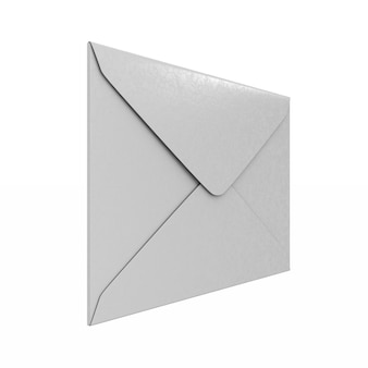 Envelope. isolated 3d rendering
