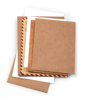 흰색 배경에 고립 된 봉투