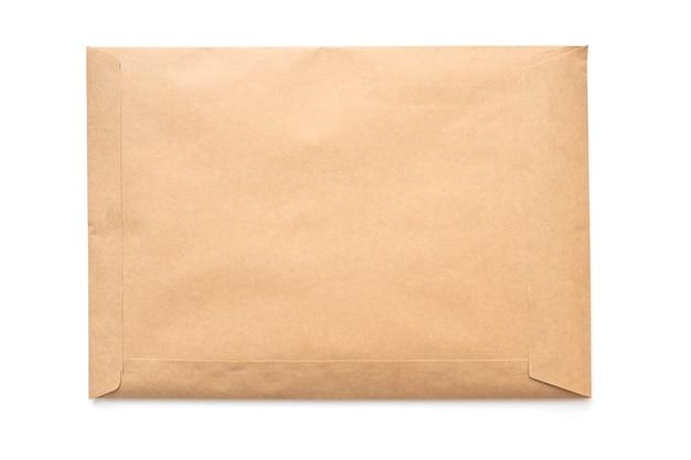Envelope mockup blank paper envelope isolated on white