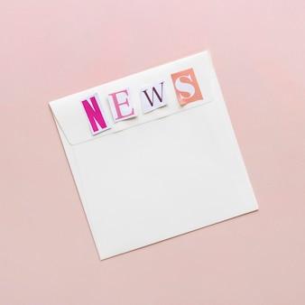 Busta con messaggio di notizie false