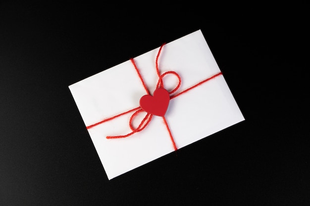 Envelope with a heart for lovers