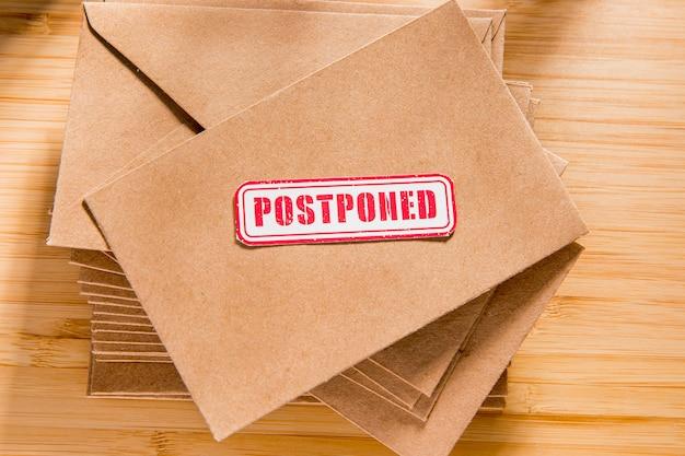 Конверт с отложенным сообщением