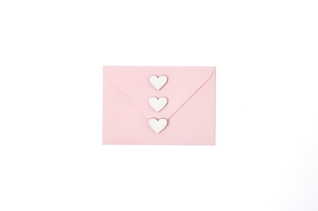 木製ハートの封筒