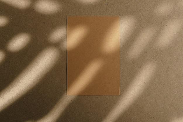잎 그림자와 함께 코르크 보드에 봉투