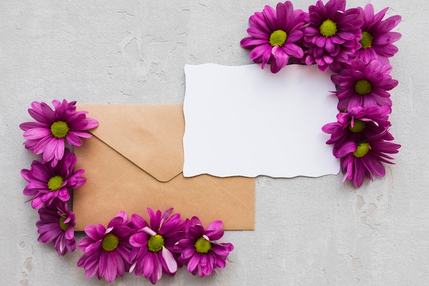 Envelopes with flowers