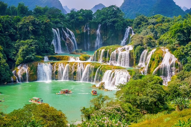 Environment landscape stone cascade saigon beautiful