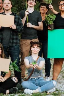 Экологи протестуют за окружающую среду