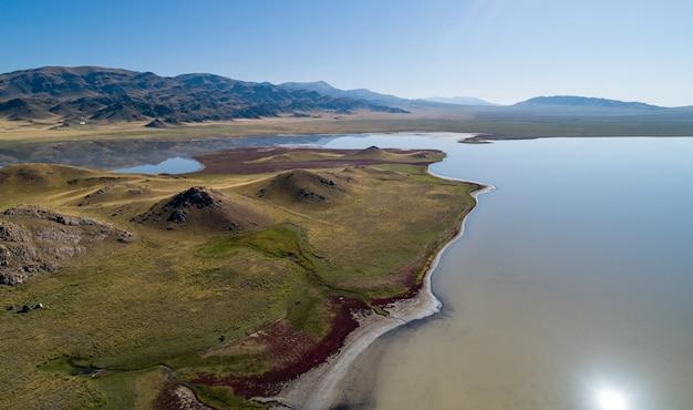 장엄한 산 호수, 항공 사진