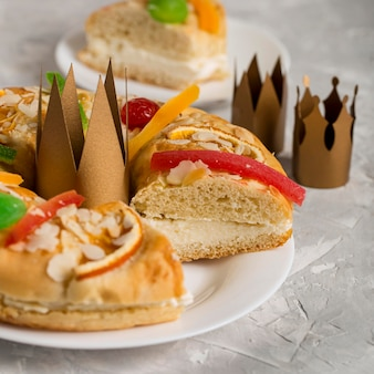 Epiphany cake roscon de reyes