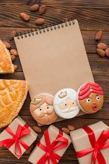 Epiphany dessert biscuits notepad