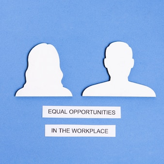Equal opportunities in the workplace between man and woman