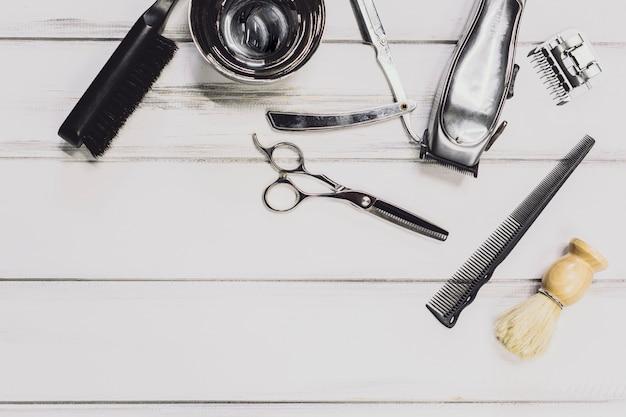 Equipment in barbershop