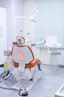 Equipment and dental instruments in dentist's office