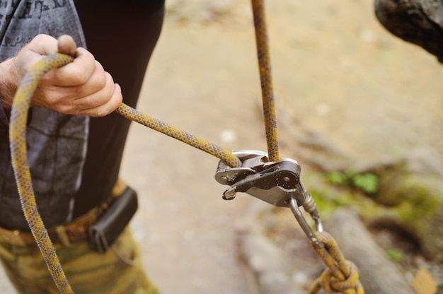 Equipment for rock climbing