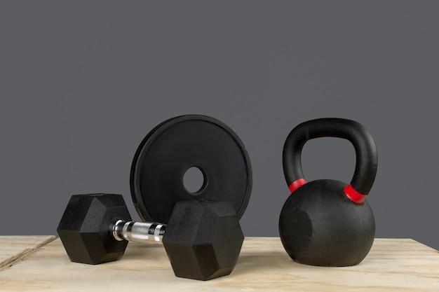 Equipo para hacer ejercicio con peso fitness y crossfit