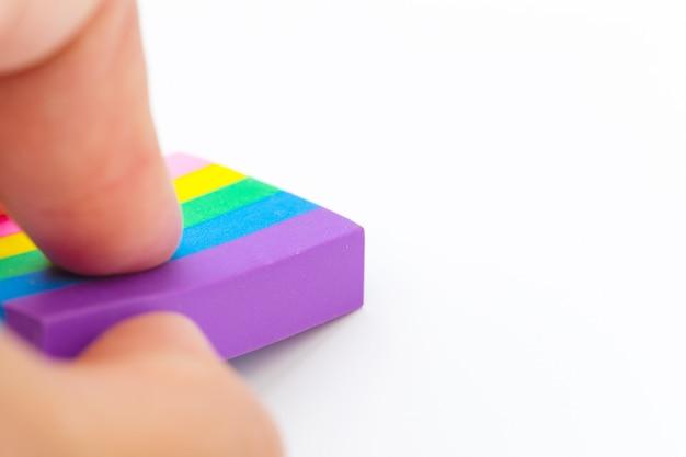 Eraser tool on white paper