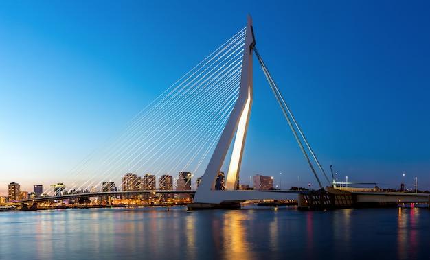 Erasmus bridge rotterdam panorama