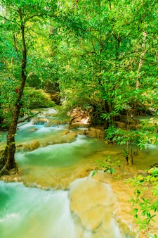Erawan waterfall, erawan national park at kanchanaburi in thailand