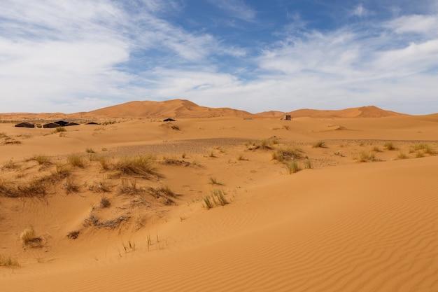 モロッコのerg chebbiの砂丘。