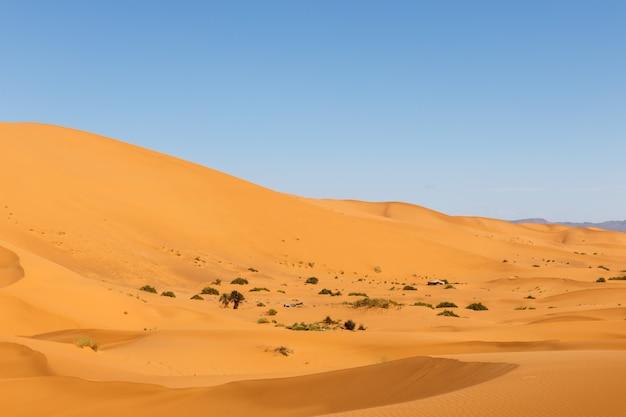 モロッコのerg chebbiの砂丘