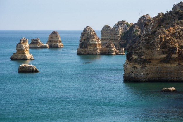 Eroded cliffs