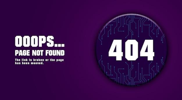 Error 404 page not found design 3d