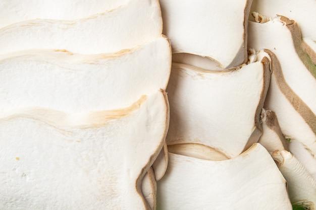 Eryngii slice oyster mushroom king mushrooms eringi fresh meal snack on the table copy space food
