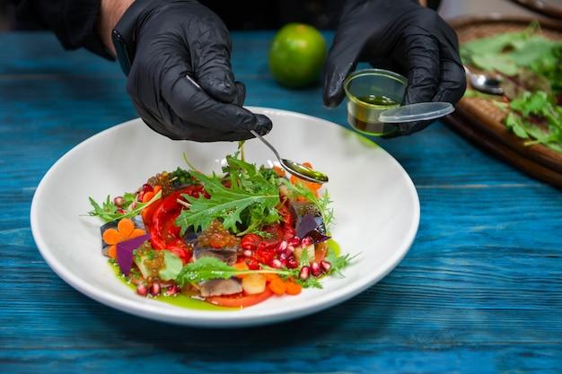 Escabeche рыбное блюдо с икрой: