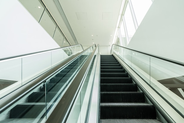 The escalator is in the mall