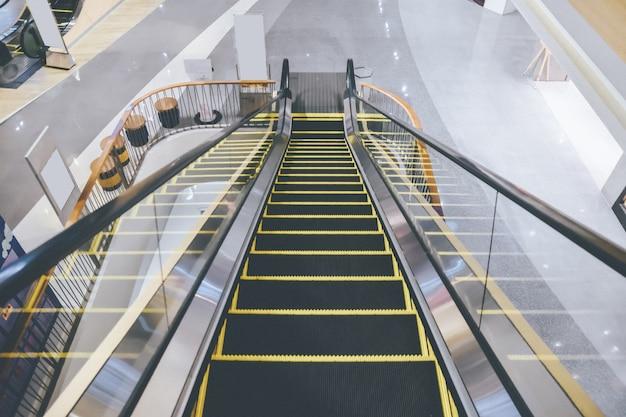 Escalator in the supermarket
