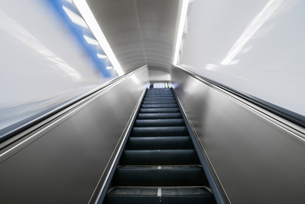 Escalator in an underground station