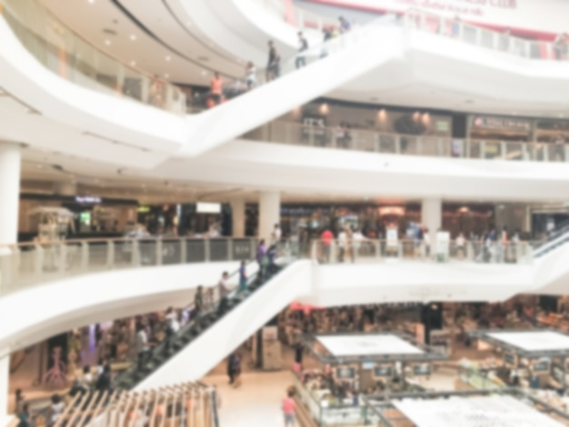 Escalators by plants mall