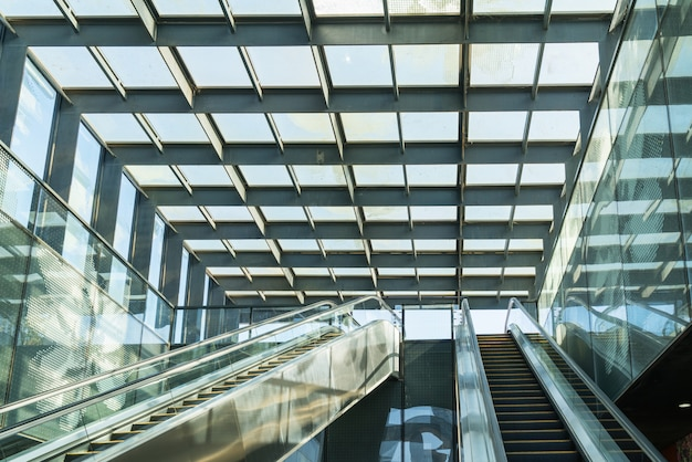 Escalators in shopping malls